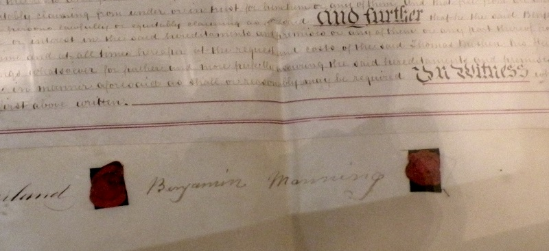 Benjamin Manning's signature on Deeds of his