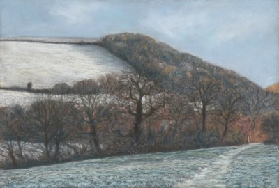 Snow on Tutshill, from Maning's Pit