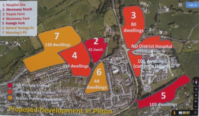 map of proposed building in Pilton area