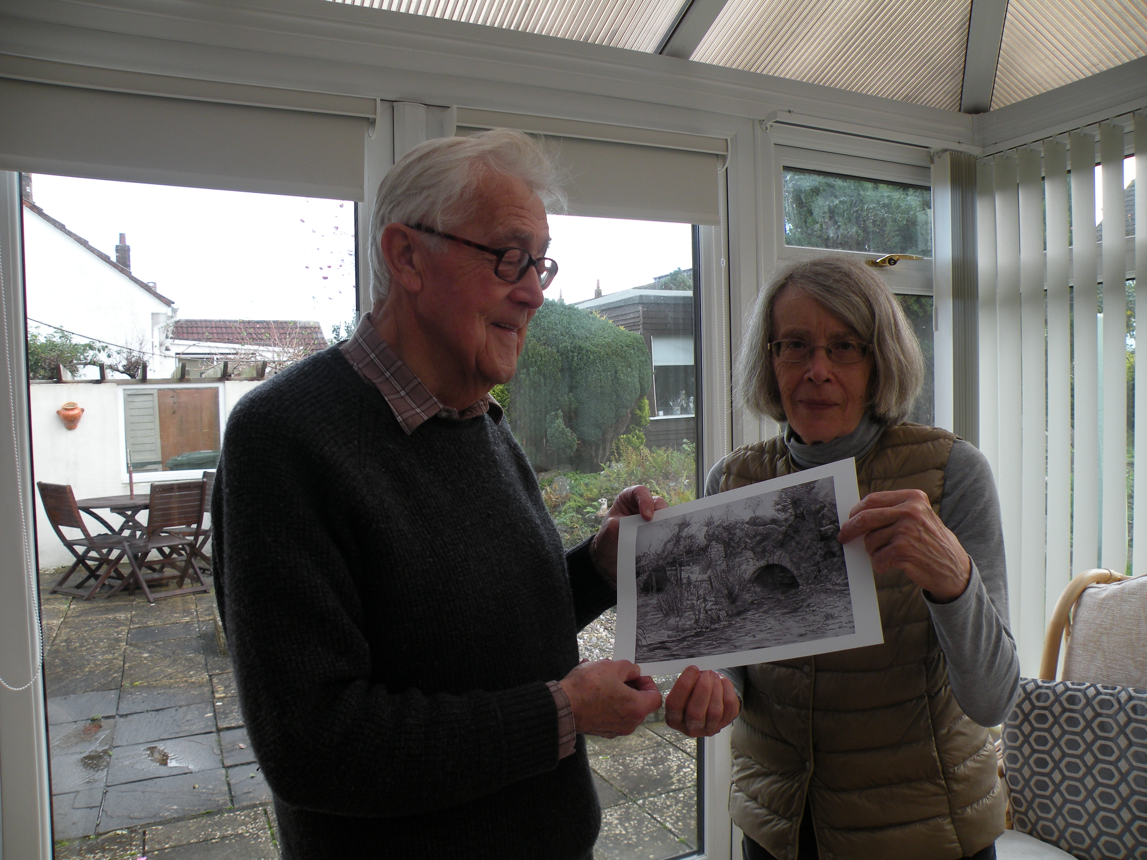 Ian Scott and Christine Lovelock with Ian's