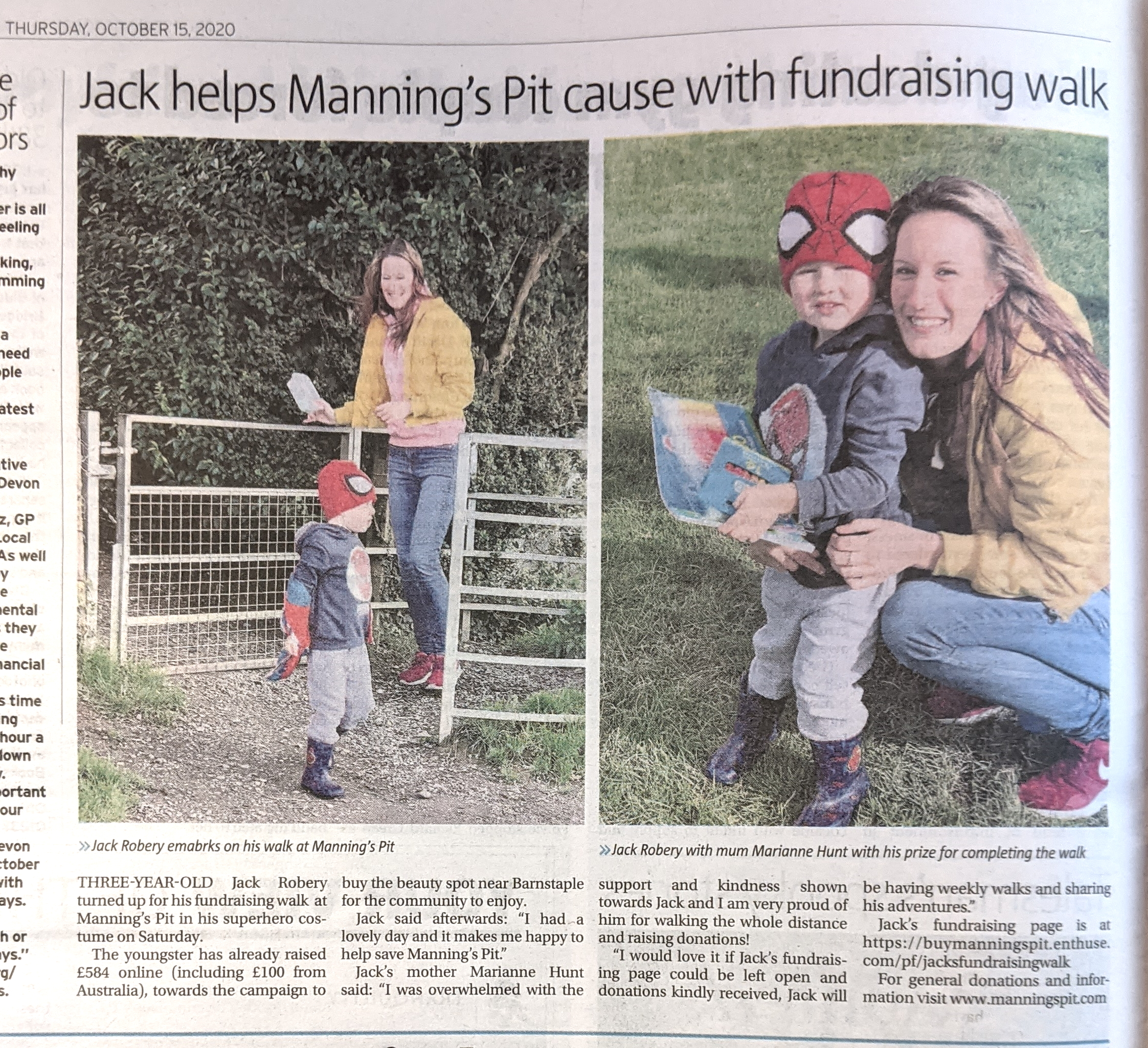 Jack's walk report North Devon