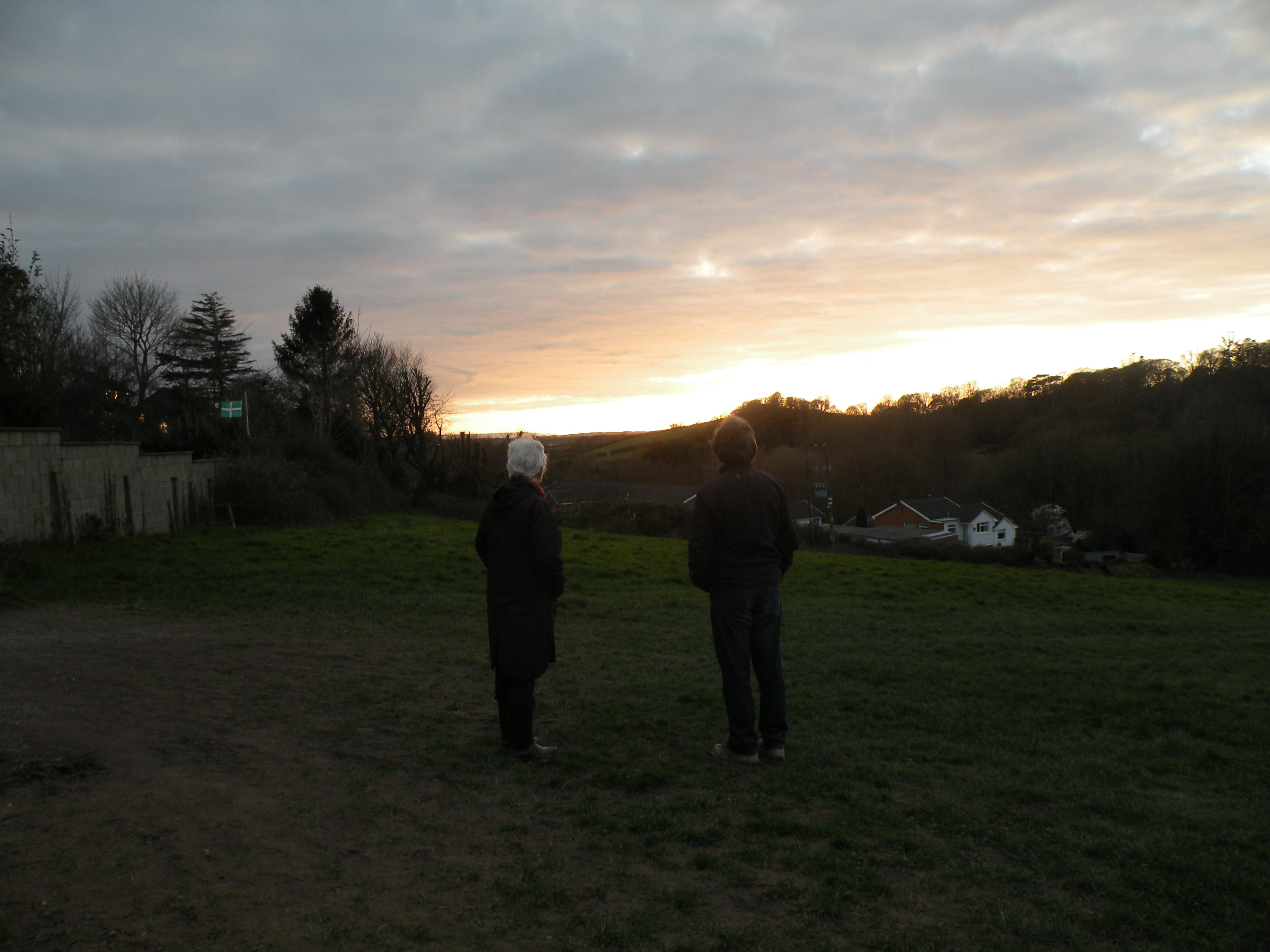Tim and Kate watch the sun setting